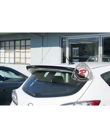 Mazda 3 MPS 10-13 (Mazdaspeed 3) Bayson R Motorsports Rear Roof Spoiler Wing (ABS Plastic)