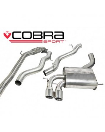 Audi A3 (8P) 2.0 TFSI 3dr 04-12 Cobra Turbo Back Package with De-Cat (Non-Resonated)