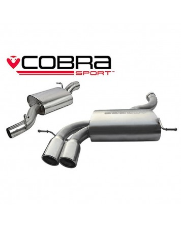 Audi A3 (8P) 2.0 TFSI Quattro (3 Door) 04-12 Cobra Cat Back System (Resonated)