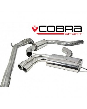 Audi A3 (8P) 2.0 TFSI 3dr 04-12 Cobra Turbo Back Package with De-Cat (Resonated)